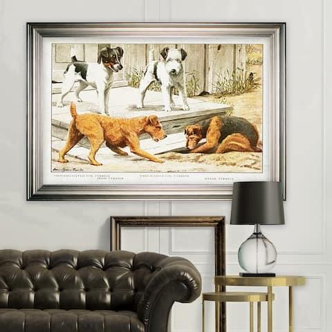 Canine Sketch XXI -Silver Frame