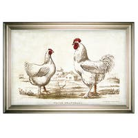 Chicken Sketch II -Silver Frame