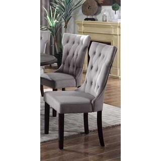 Best Master Furniture Grey Velvet Side Chairs (Set of 2)
