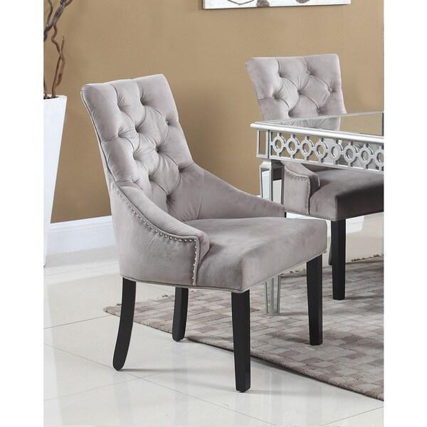 Shop Best Master Furniture Weathered Oak Sleigh: Shop Best Master Furniture T1805 Suede Side Chairs (Set Of