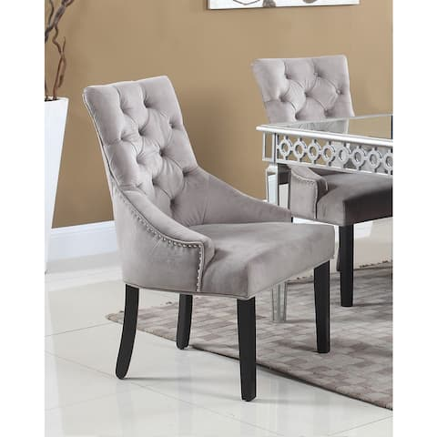 Best Master Furniture T1805 Suede Side Chairs (Set of 2)
