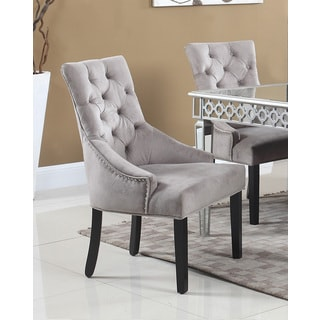 Abbyson Versailles Grey Tufted Dining Chair - Free ...