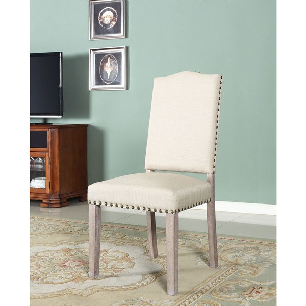 Best Master Furniture 596 Natural Fabric Side Chairs ( Set Of 2 )