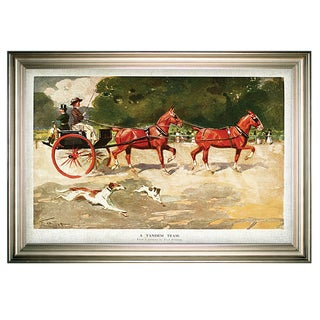 Link to Horse Drawn Coach - Alamy -Silver Frame Similar Items in Canvas Art
