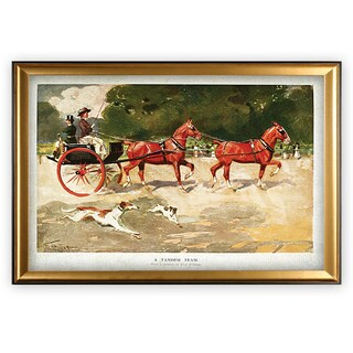 Horse Drawn Coach - Alamy - Gold Frame