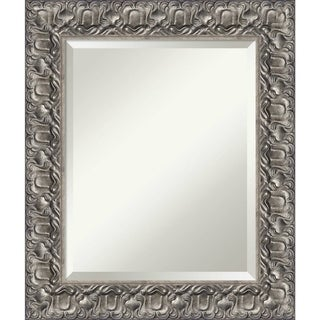Bathroom Mirror Medium, Silver Luxor 22 x 26-inch