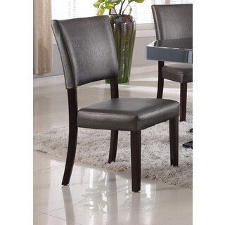 Best Master Furniture Metallic Bronze Faux Leather Dining Side Chairs (Set of 2)
