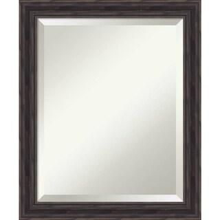 Bathroom Mirror Medium, Narrow Rustic Pine 19 x 23-inch