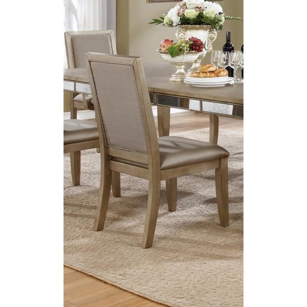 Shop Best Master Furniture Weathered Oak Sleigh: Shop Best Master Furniture B1980 Bronzed Dining Side