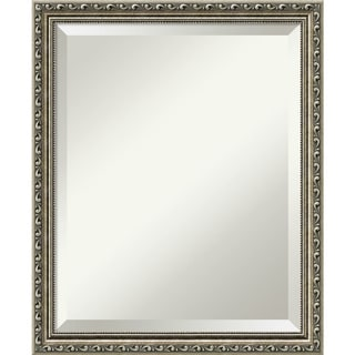 Bathroom Mirror Medium, Parisian Silver 19 x 23-inch