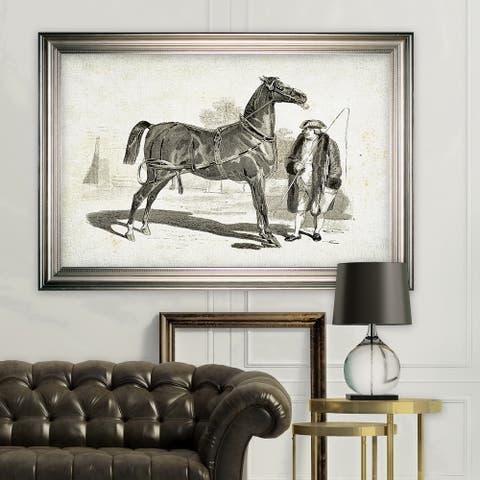 Equine Sketch VII -Silver Frame