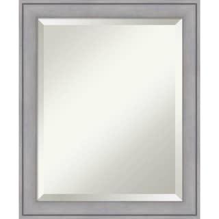 Bathroom Mirror, Graywash - Silver