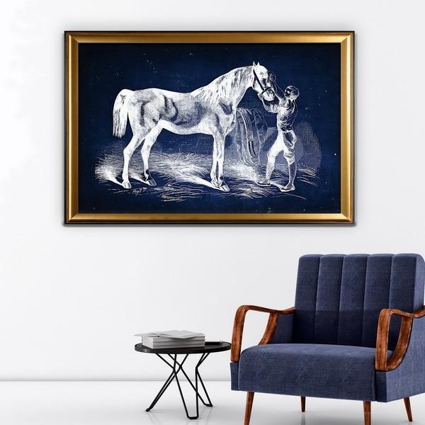 Equine Sketch VI - Gold Frame