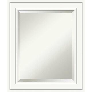 Bathroom Mirror Medium, Craftsman White