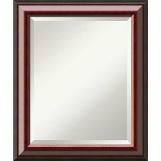 Bathroom Mirror Medium, Cambridge Mahogany 21 x 25-inch