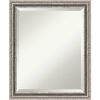 Bathroom Mirror Medium, Bel Volto Silver 19 x 23-inch