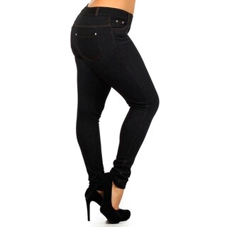 Lady'S Fashion Jegging Black Plus Size