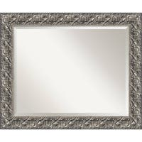 Bathroom Mirror Large, Silver Luxor 34 x 28-inch