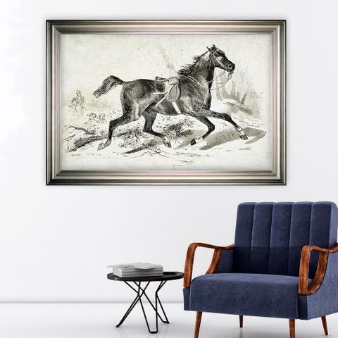 Equine Sketch VIIII -Silver Frame