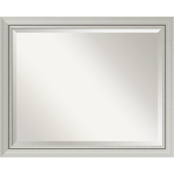 Bathroom Mirror Large Romano Narrow Silver 32 X 26 Inch