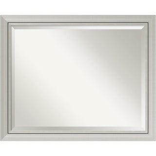 Bathroom Mirror Large, Fits Standard 30 to 36 Cabinet, Romano Narrow Silver 32 x 26-inch