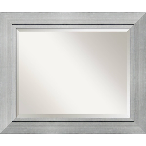 Bathroom Mirror Large Romano Silver 36 X 30 Inch