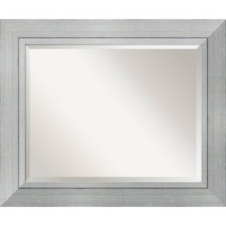 Bathroom Mirror Large, Romano Silver 36 x 30-inch