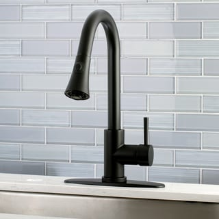 Black Modern Pull-Down Kitchen Faucet