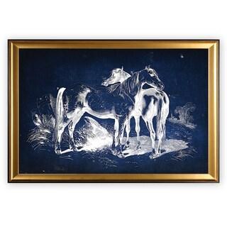 Equine Plate V - Gold Frame