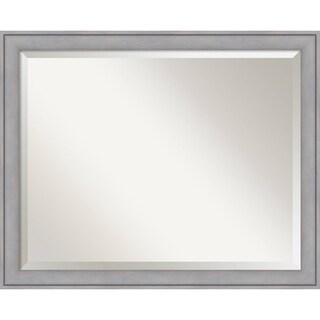 Bathroom Mirror Large, Graywash 32 x 26-inch - Silver - 25.38 x 31.38 x 1.12 inches deep