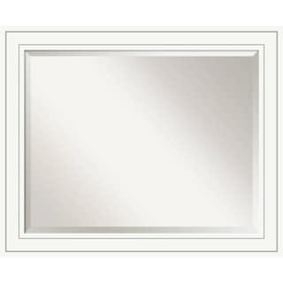 Bathroom Mirror Large, Craftsman White 33 x 27-inch - 26.88 x 32.88 x 0.889 inches deep