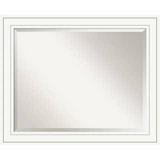 Bathroom Mirror Large, Craftsman White 33 x 27-inch