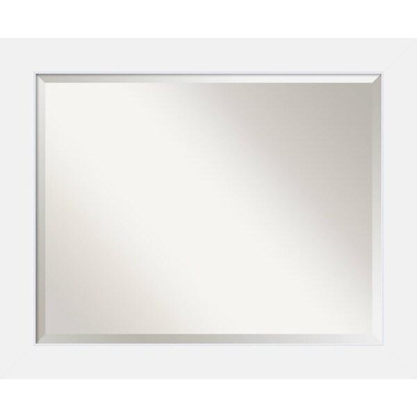 Bathroom Mirror Large, Corvino White 33 x 27-inch - 26.88 x 32.88 x 0.866 inches deep