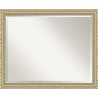Bathroom Mirror Large, Champagne Teardrop 31 x 25-inch - Gold - 25 x 31 x 1.208 inches deep