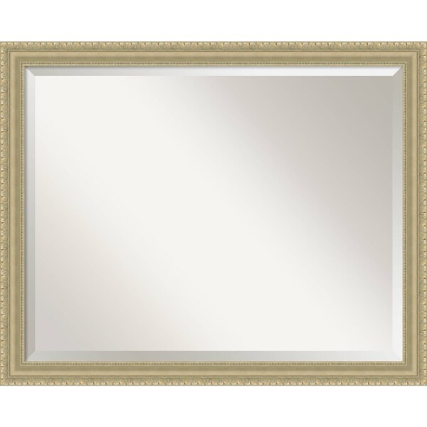 Bathroom Mirror Large, Champagne Teardrop 31 x 25-inch