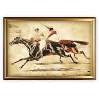 Equine Sketch V - Gold Frame