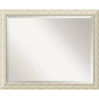 Bathroom Mirror Large, Cape Cod White Wash 32 x 26-inch - 25.38 x 31.38 x 0.908 inches deep