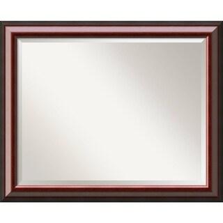Bathroom Mirror Large, Cambridge Mahogany 33 x 27-inch
