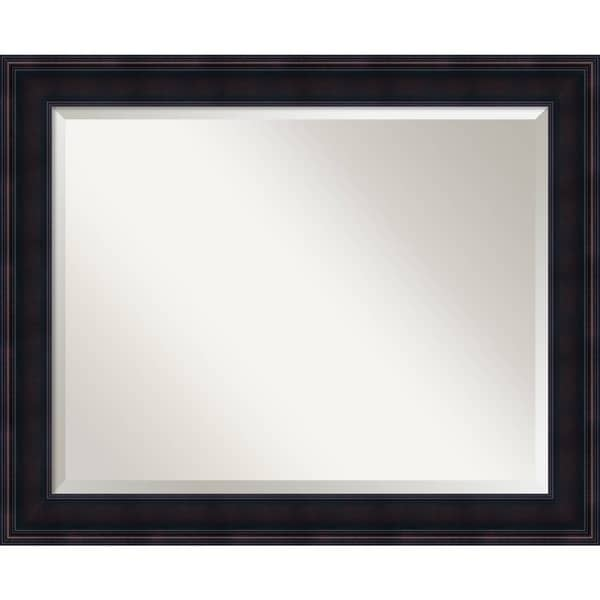 Bathroom Mirror Large, Annatto Mahogany 33 X 27 Inch