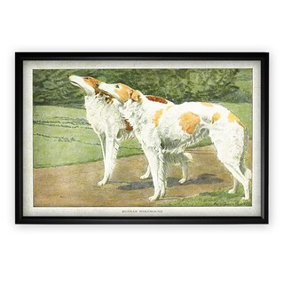 Canine Plate V - Black Frame
