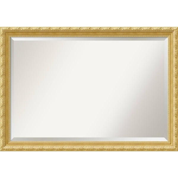 Bathroom Mirror Extra Large, Versailles Gold 40 x 28-inch