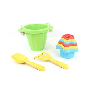 Green Toys Sand & Water Play Set: Bucket w/ Shovel, Rake & Cups