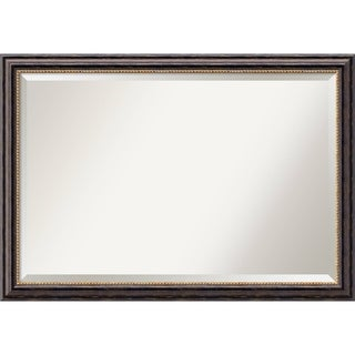 Bathroom Mirror Extra Large, Tuscan Rustic 40 x 28-inch