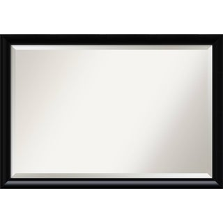 Bathroom Mirror Extra Large, Steinway Black Scoop 39 x 27-inch
