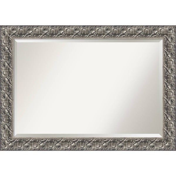 Bathroom Mirror Extra Large, Silver Luxor 42 x 30-inch