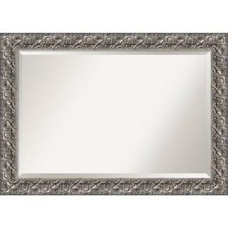 Bathroom Mirror Extra Large Silver Luxor 42 X 30 Inch