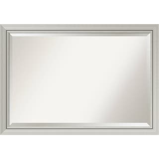 Bathroom Mirror Extra Large, Fits Standard 30-inch to 48-inch Cabinet, Romano Narrow Silver 40 x 28-inch