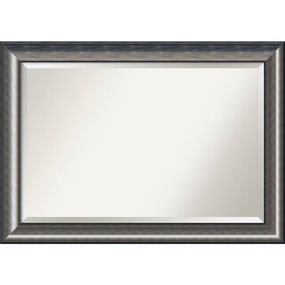 Bathroom Mirror Extra Large, Quicksilver Scoop 42 x 30-inch - 29.75 x 41.75 x 1.463 inches deep