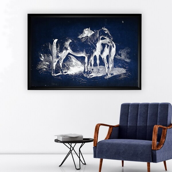 Equine Plate V - Black Frame