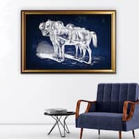 Equine Plate III - Gold Frame